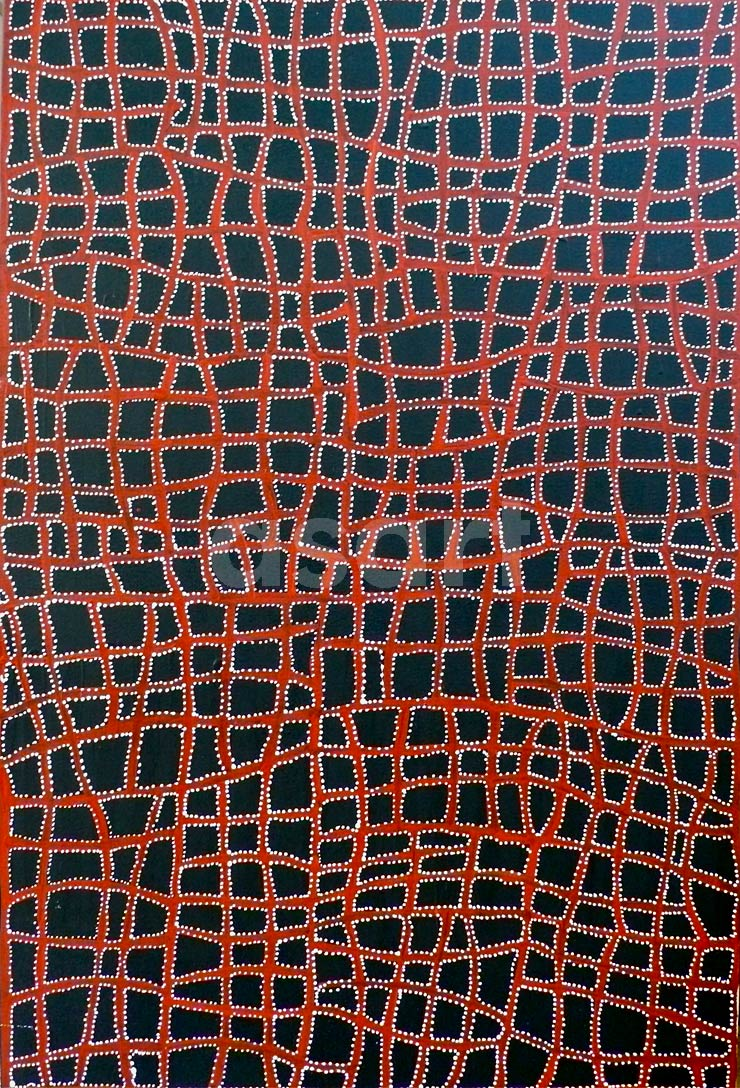 Body paint 2010 (ALK 1010), by Aboriginal artist Abie Loy Kemarre (Australia)