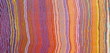 example of Aboriginal art: Lappi Lappi Jukurrpa 2011 (Lappi Lappi Dreaming) by Mary Anne Nampijinpa Michaels