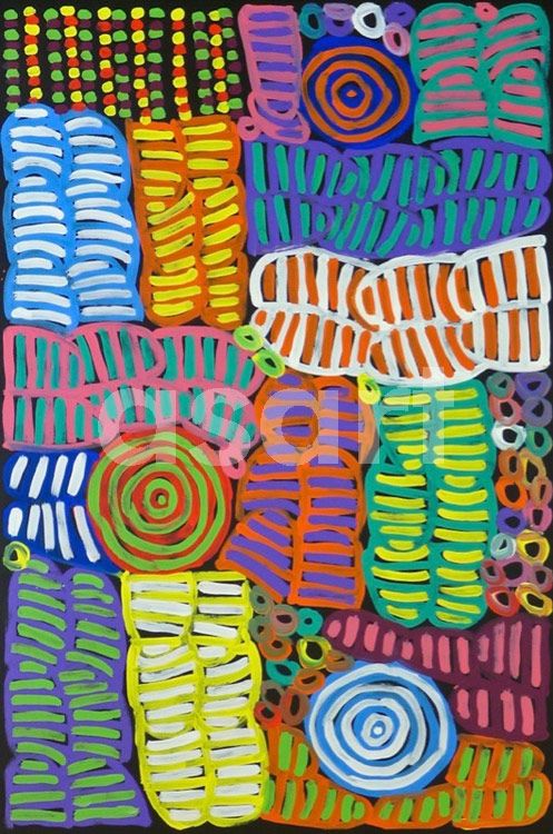 Awelye #1, by Aboriginal artist Betty Mbitjana (Australia)