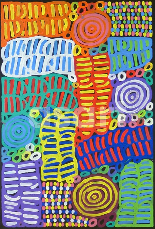 Awelye #2, by Aboriginal artist Betty Mbitjana (Australia)