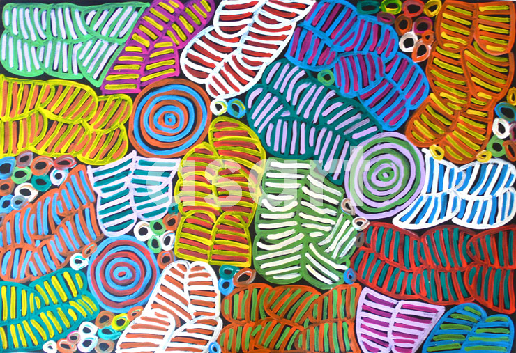 Awelye #3, by Aboriginal artist Betty Mbitjana (Australia)