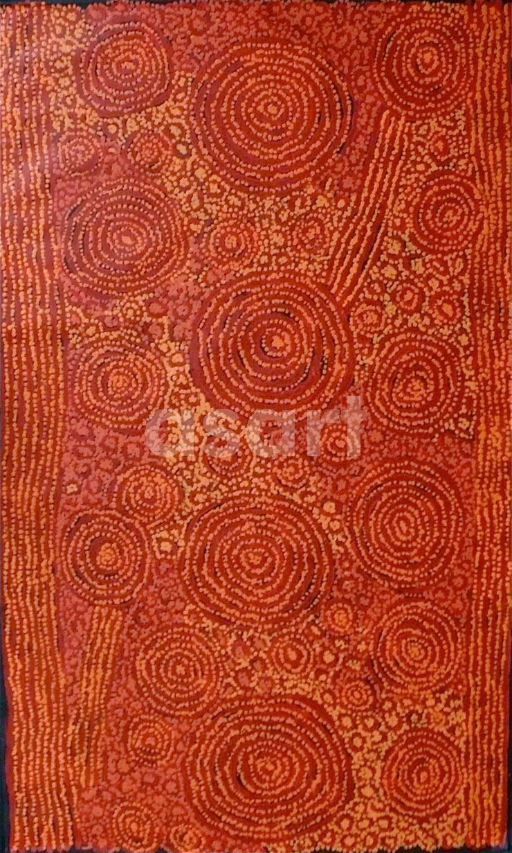Ningari Dreaming, by Aboriginal artist George Ward Tjungurrayi (Australia)
