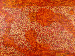 George Ward Tjungurrayi's artwork (Australia)