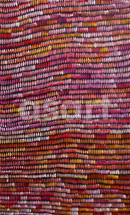 Bush Yam Dreaming, by Aboriginal artist Janet Golder Kngwarreye (Australia)