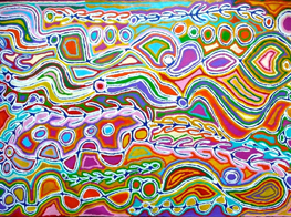 Judy Watson Napangardi's artwork (Australia)