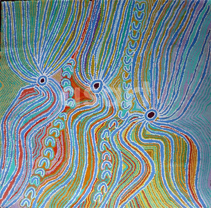 Wakirlpirri Jukurrpa, by Aboriginal artist Liddy Napanangka Walker (Australia)