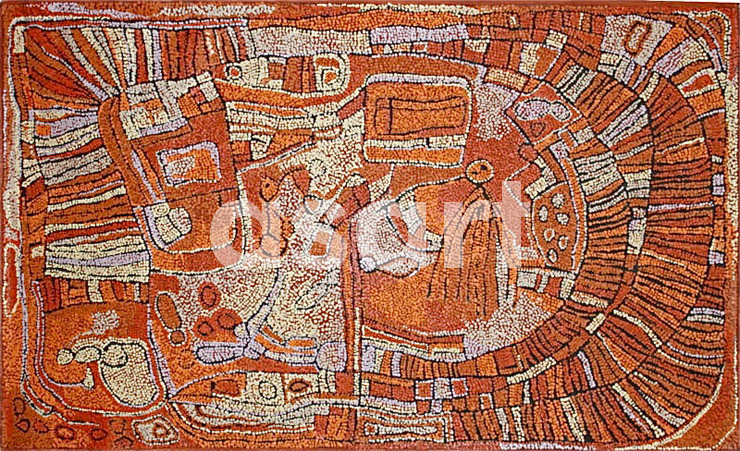 Marrapinti (13NN-11), by Aboriginal artist Naata Nungurrayi (Australia)