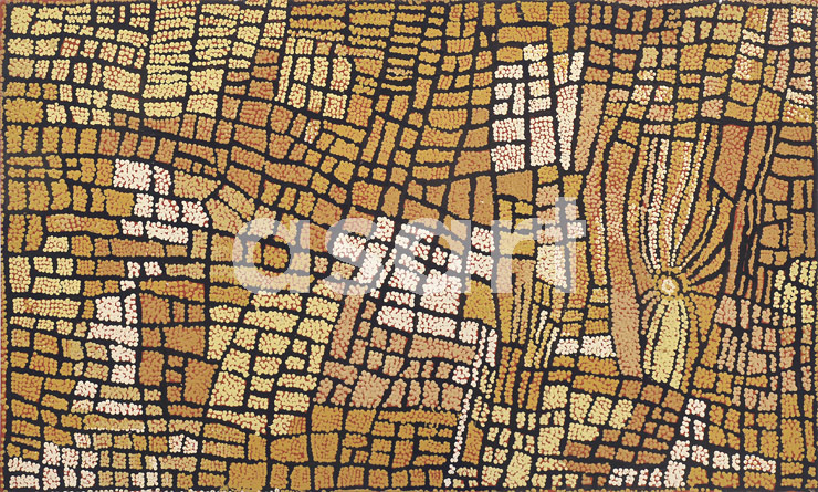 Marrapinti (2003), by Aboriginal artist Naata Nungurrayi (Australia)