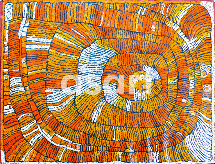 Marrapinti (2007 Cat 15607NN), by Aboriginal artist Naata Nungurrayi (Australia)