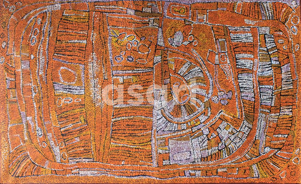 Marrapinti (DR4), by Aboriginal artist Naata Nungurrayi (Australia)