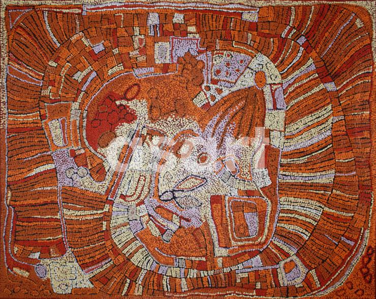 Marrapinti 2, by Aboriginal artist Naata Nungurrayi (Australia)