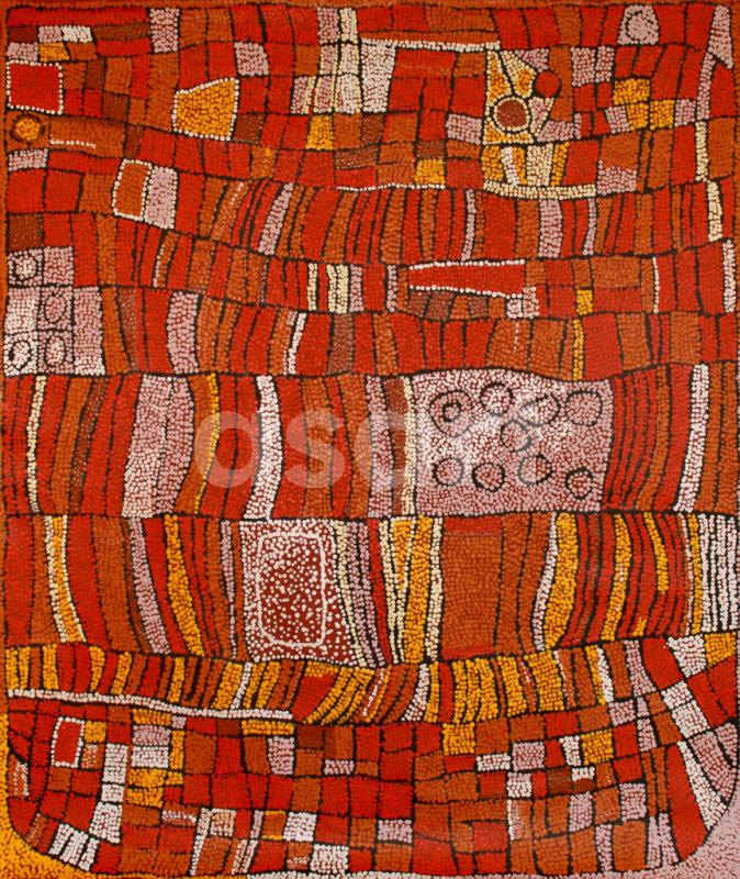 Snake Dreaming, by Aboriginal artist Naata Nungurrayi (Australia)