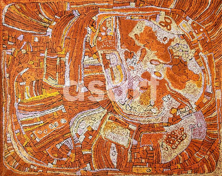 Untitled, by Aboriginal artist Naata Nungurrayi (Australia)