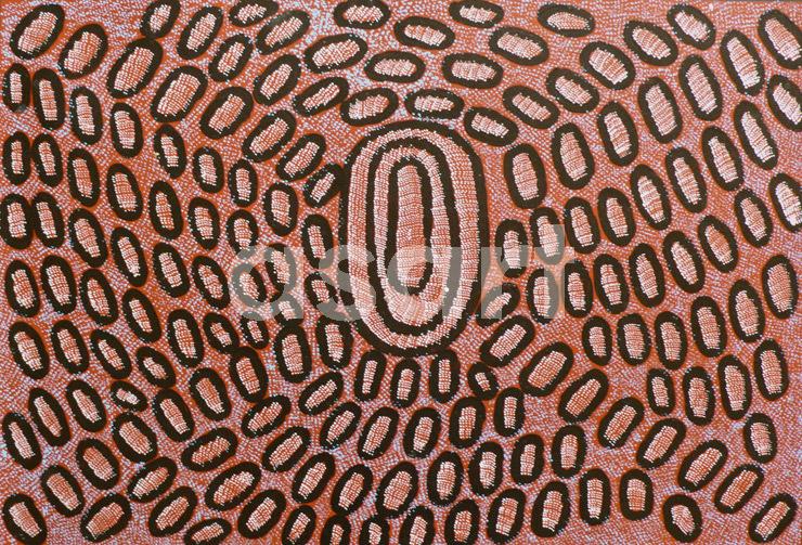 Swamps near Nyrripi (11NPN0022), by Aboriginal artist Ngoia Pollard Napaltjarri (Australia)