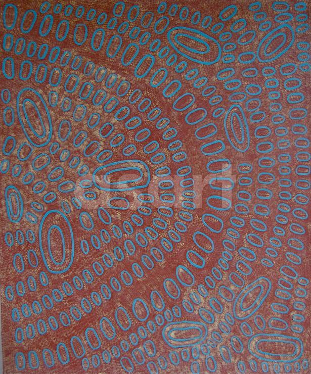 Swamps at Talarada, by Aboriginal artist Ngoia Pollard Napaltjarri (Australia)