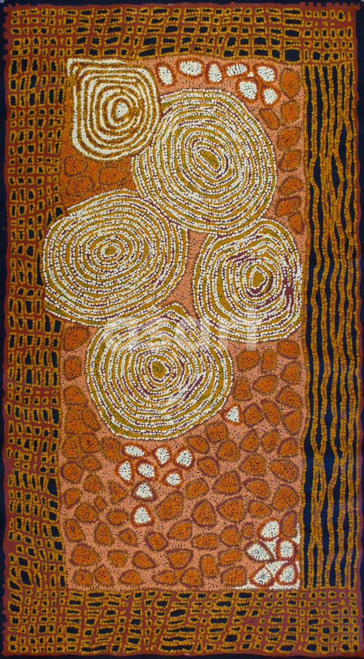 Travels of Kutungka, by Aboriginal artist Walangkura Napanangka (Australia)
