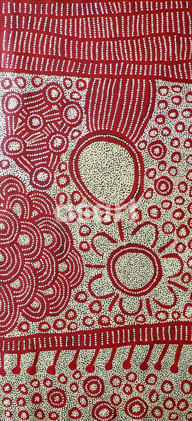My Dreaming (11YN004), by Aboriginal artist Yinarupa Nangala (Australia)