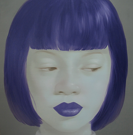 Cool Purple Girl by Asian artist Attasit Pokpong (Thailand)