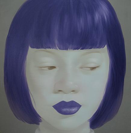 Cool Purple Girl by Asian artist Attasit Pokpong (Thailand)