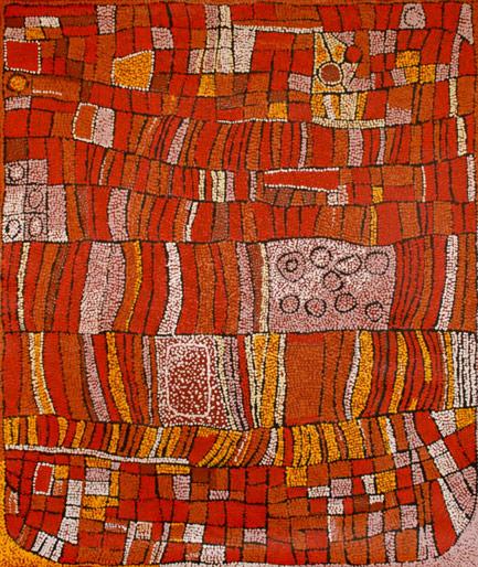 Snake Dreaming by Aboriginal artist Naata Nungurrayi