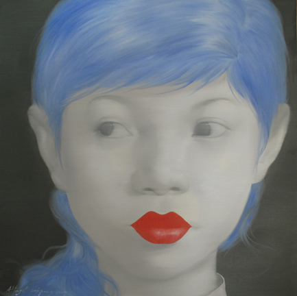London Blue Girl by Asian artist Attasit Pokpong (Thailand)