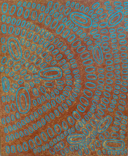 Swamps at Talarada by Aboriginal artist Ngoia Pollard Napaltjarri