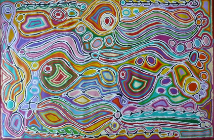 Mina Mina 2010 by Aboriginal artist Judy Watson Napangardi