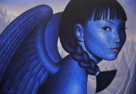 Angel of the Mountains by Asian artist Pairoj Karndee (Thailand)