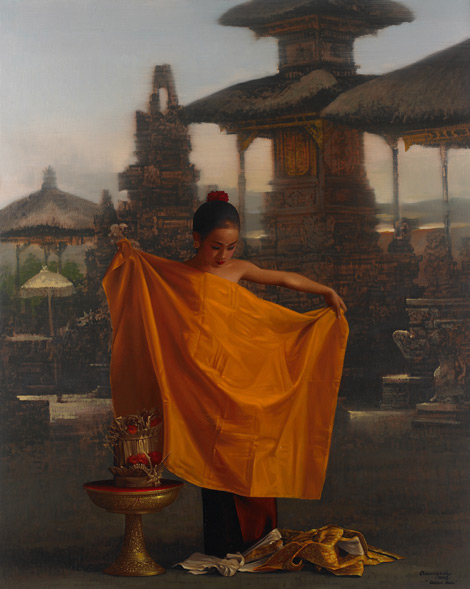 Golden Robe by Asian artist Rearngsak Boonyavanishkul (Thailand)