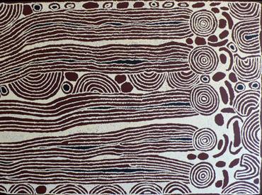 Women's Dreaming (2007) by Aboriginal artist Ningura Napurrula