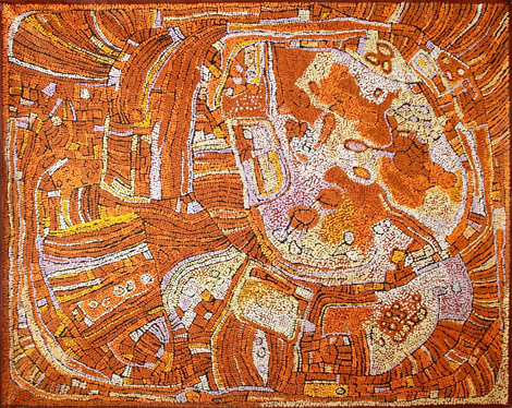 Untitled by Aboriginal artist Naata Nungurrayi
