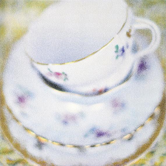 Gold Trim Teacups by artist Douglas Stewart (Canada/United States)