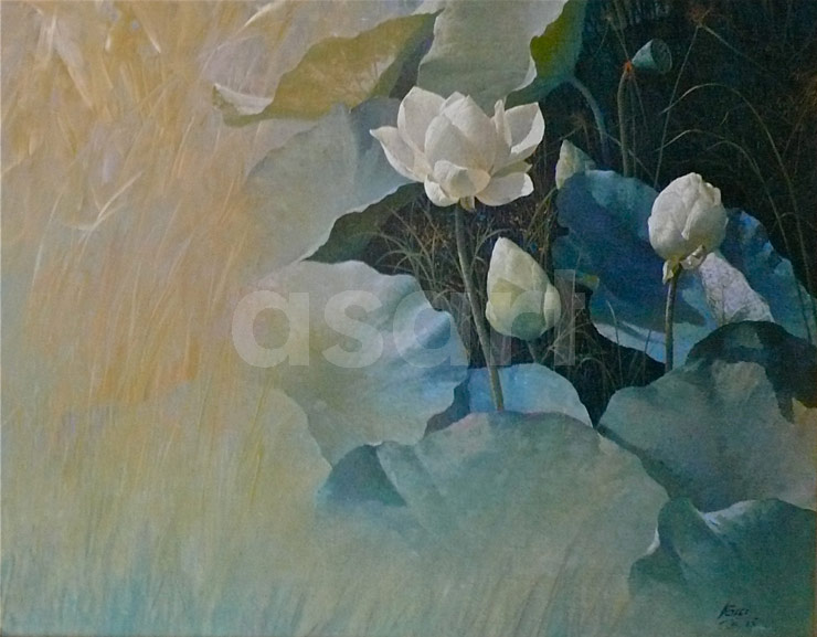 Waterlilies, by Asian artist Boonchoo Chawana (Thailand)