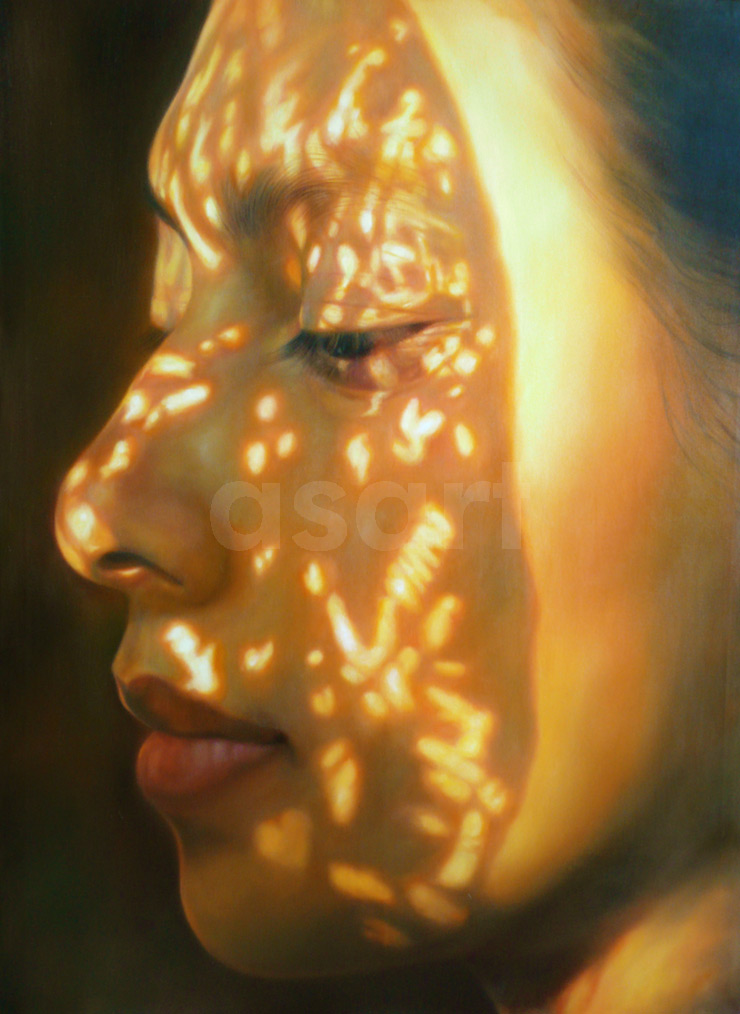 Bodhi Reflection, by Asian artist Karuna Panumes (Thailand)