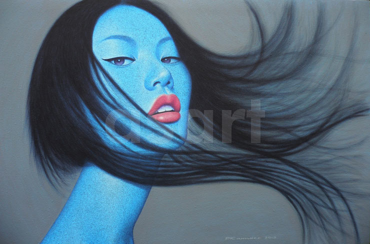 Blue Wind, by Asian artist Pairoj Karndee (Thailand)