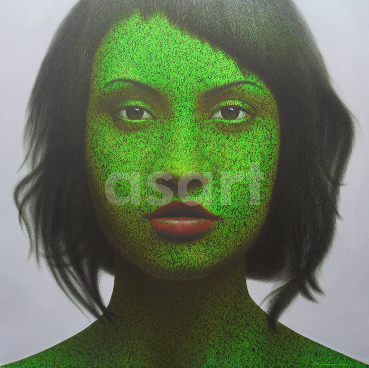 Emerald Girl, by Asian artist Pairoj Karndee (Thailand)
