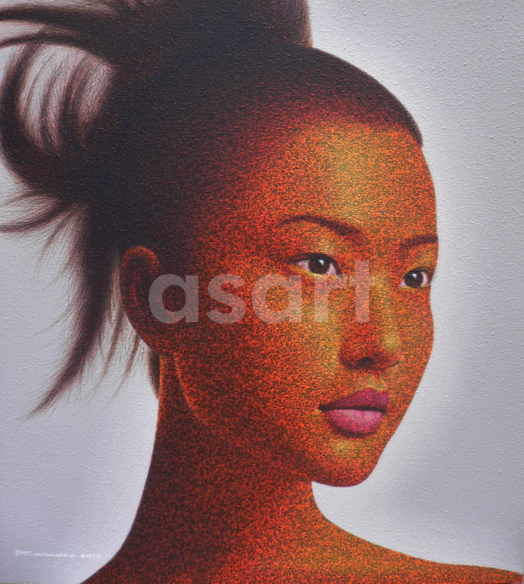 Thai Beauty, by Asian artist Pairoj Karndee (Thailand)