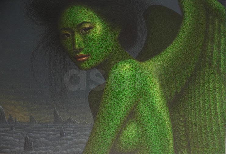 Tokyo Angel, by Asian artist Pairoj Karndee (Thailand)