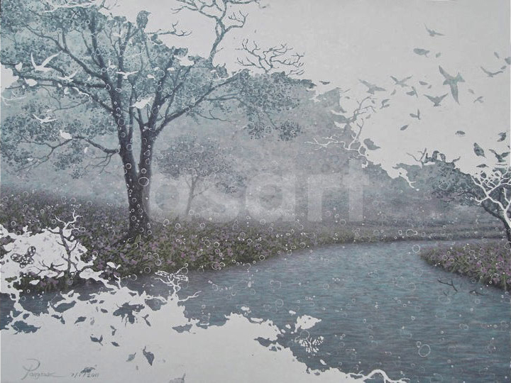 Riverside, by Asian artist Pongsak Kamjonrasamekit (Thailand)