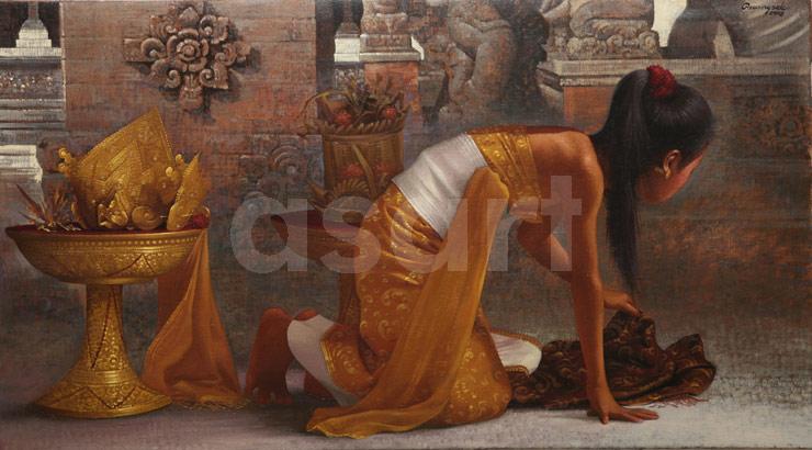 The Shawl, by Asian artist Rearngsak Boonyavanishkul (Thailand)