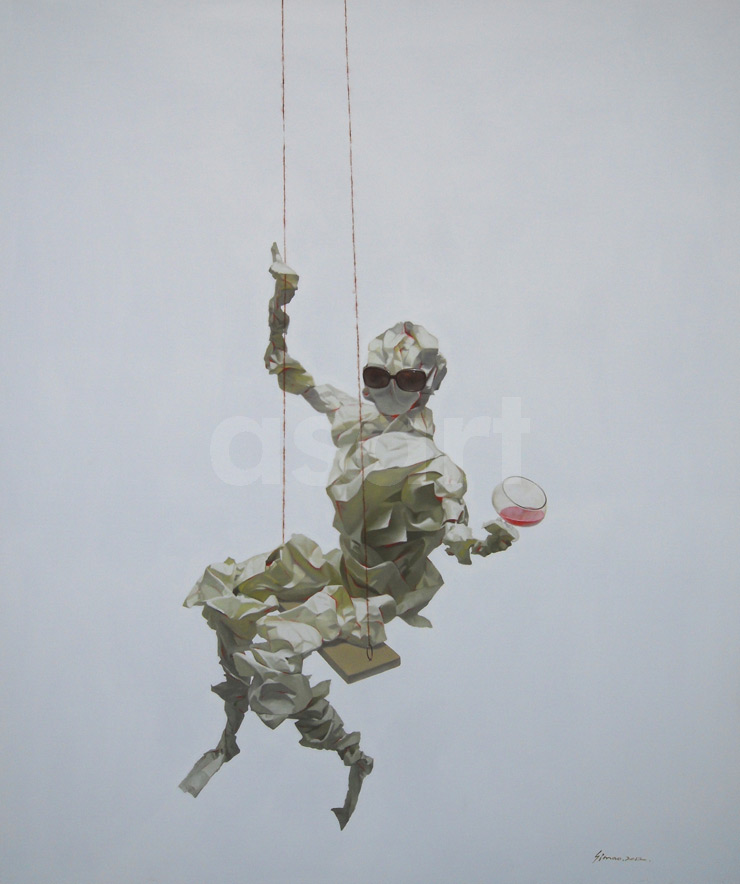 Edge of Reason #71, by Asian artist Simao (Tse Mao) Huang (China)