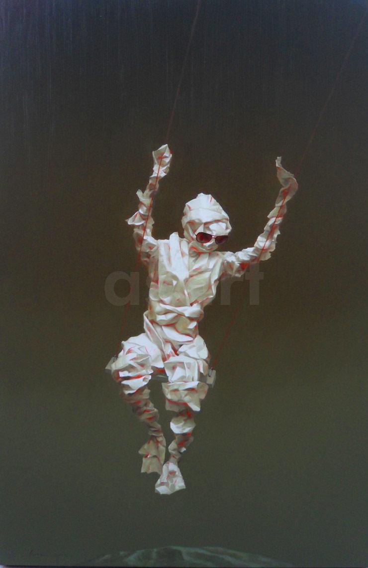 Edge of Reason #75, by Asian artist Simao (Tse Mao) Huang (China)