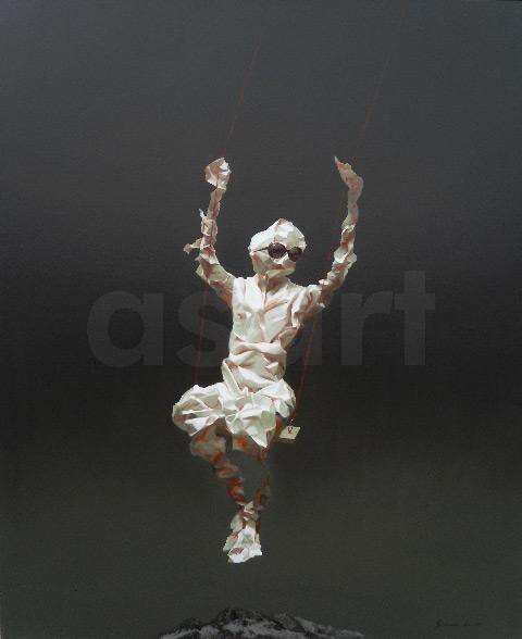 Edge of Reason #77, by Asian artist Simao (Tse Mao) Huang (China)