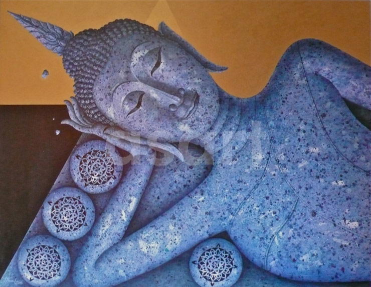 Sleeping Buddha, by Asian artist Trawul Praman (Thailand)