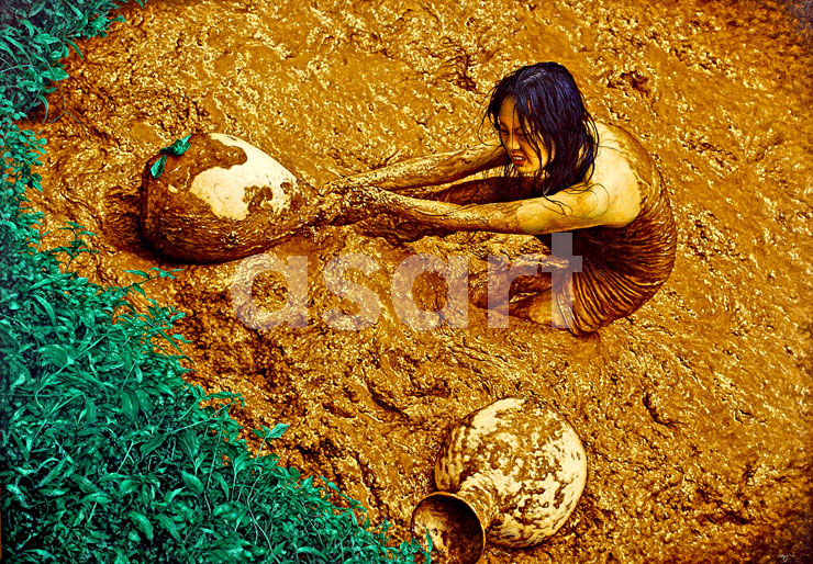 Mud, by Asian artist Ugy Sugiarto (Indonesia)