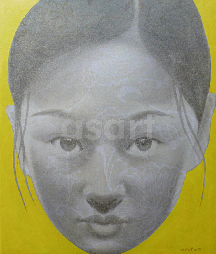 Perfect Yellow Girl, by Asian artist Vichit Nongnual (Thailand)