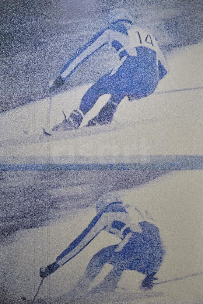 Killy '68!, by international artist Douglas Stewart (Canada/United States)