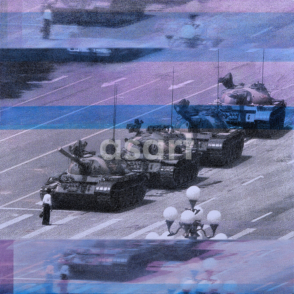 Tank Man, by international artist Douglas Stewart (Canada/United States)
