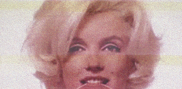 example of international contemporary art: Marilyn When by artist Douglas Stewart (Canada/United States)